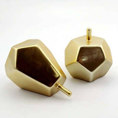 matt gold ceramic apples and pears set home decor