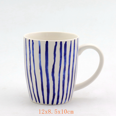 Porcelain Blue Stripes Mug