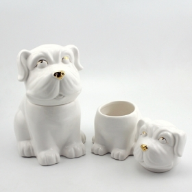 ceramic dog treat cookie jar